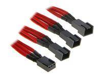 BitFenix 3-pin to 3 pcs 3-pin adapter - 60cm - Red