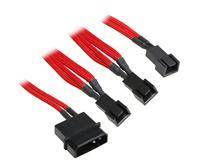 BitFenix Molex to 3 pcs 3-pin adapter - 20cm - Red