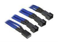 BitFenix 3-pin to 3 pcs 3-pin adapter - 60cm - Blue